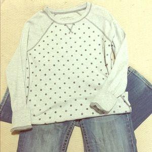 Gray dot sweat shirt 🖤